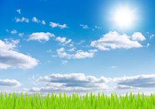 Sun and sky background. Stock Photo