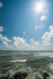 The sun, the sky and the Black Sea in Bulgaria Royalty Free Stock Photos