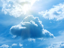 The sun the sky  clouds Royalty Free Stock Photo