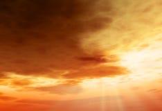 Sun, sky, clouds Stock Photos