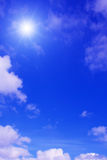 Sun,sky and clouds. Royalty Free Stock Image