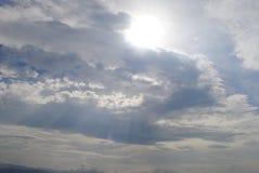 Sun, sky, clouds, infinity, space,Carpathians. The sky above the Carpathians, the mountains Stock Image