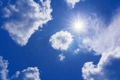 Sun sky clouds Stock Image