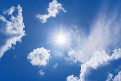Sun sky clouds Stock Photos