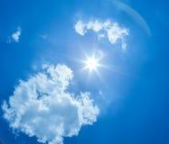 Sun sky clouds Stock Images