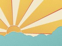 Sun in the sky stock illustration