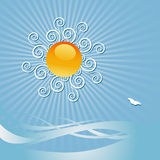 Sun and sky illustration Royalty Free Stock Image