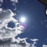 Sun sky-2 puissance-bleu Photo libre de droits