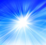 Sun and Sky. Radial abstract blue background Stock Images