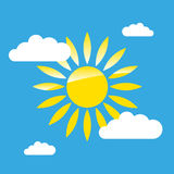 Sun on the sky simple graphic Stock Photo