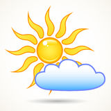 Sun in the sky Royalty Free Stock Photo
