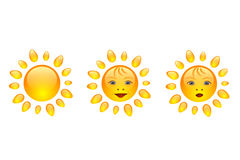 Sun smile. Icon,  illustration Stock Photography