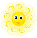 Sun smile. Cute sun smile illustration background Stock Images