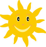 Sun with a smile. The sun with a smile on white background Stock Images