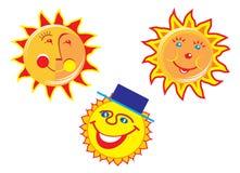 Sun smile. Illustration for summer season Stock Image