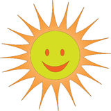 A sun smile. An illustration of the sun smile Royalty Free Stock Image