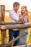 Sun smile. Playful parent couple enjoying sunny day Royalty Free Stock Photo