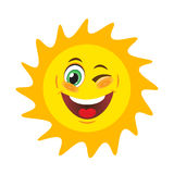 Sun with smile Stock Image