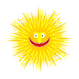 Sun smile. Summer Yellow Sun. Symbol summer. Vector illustration Royalty Free Stock Photo