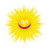 Sun smile. Summer Yellow Sun. Symbol summer. Vector illustration. Sun smile. Summer Yellow Sun.  Symbol summer. Vector illustration Royalty Free Stock Photo