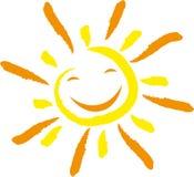 Sun with smile, sun and children`s logo. Sun with smile, colored, sun and children`s logo Royalty Free Stock Image