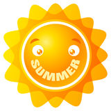 Sun with smile. Vector logo sun with smile. Summer smile Stock Image