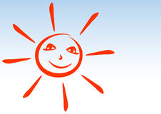 Sun smiles. Royalty Free Stock Photography