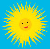 Sun smiles. Royalty Free Stock Photo