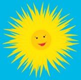 Sun smiles. Royalty Free Stock Photo