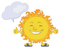 Sun smiley Stock Image