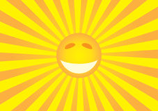Sun smiley Stock Image