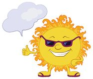 Sun smiley with glasses Stock Photos