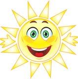 Sun, smiley. Symbol. Lizenzfreie Stockfotografie
