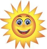 Sun, smiley. Symbol. Stockfotos