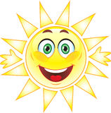 Sun, Smiley. Symbol. Stock Images - cheerful smiling sun Royalty Free Stock Photography
