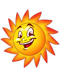 Sun smiling Royalty Free Stock Images