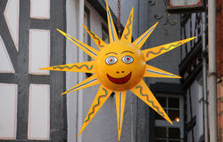 The sun is smiling. Deco / The sun is smiling Royalty Free Stock Photography