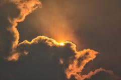 Sun and smoke stock photos