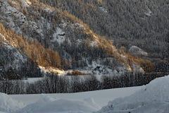 Sun and Snow, Frozen lakes stock photos