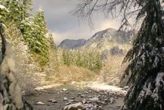 Sun and snow Stock Photo