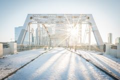 Nashville in the Snow Royalty Free Stock Image