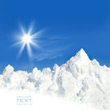 Sun and snow after a winter storm Royalty Free Stock Images