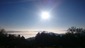 Sun sobre las nubes Imagen de archivo libre de regalías