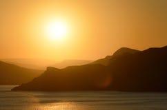 Sun sobre o mar Foto de Stock