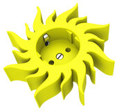 The sun socket Royalty Free Stock Image