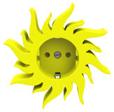 The sun socket Stock Images