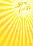 Sun solar energy a4. Sunburst background with the handwritten word SOLAR ENERGY for your text Royalty Free Stock Photos
