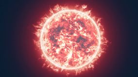 The sun solar flare stock video footage