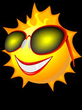 Sun in solar glasses. Symbol of the sun in solar glasses in a Royalty Free Stock Photography