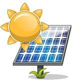 Sun solar panel vector illustration